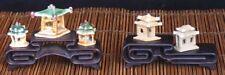 Bonsai Tisch - Set aus 2 Tischen - dunkel gebeizt und lackiert - Display - mini