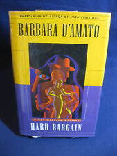 BARBARA D'AMATO HARD BARGAIN A CAT MARSALA MYSTERY HARDCOVER BOOK EX-LIBRARY