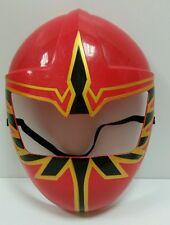 2005 RARE Bandai Power Rangers Red  Hard Plastic Costume Mask DRESS UP HALLOWEEN