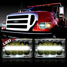 LED Headlight Headlamp Upgrade for Ford Super Duty Truck F550 F650 F750 (2 Pack)
