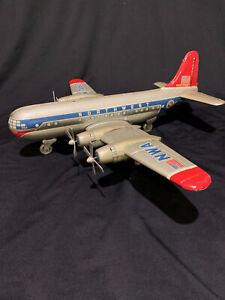 Vintage Northwest Airlines model Airplane N7460, Friction Propellers work wt BOX