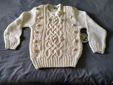 Vintage Colter Bay International Womens Size S Hand Knit Sweater Cream/ Pastel
