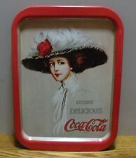 1971 Repro Coca Cola 1909 Hamilton King soda girl serving drink tray coke
