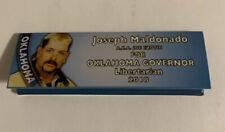 Joe Exotic Tiger King Rolling Papers Joesph Maldonado Libertarian Governor Race