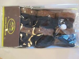 PET LIFE NEW UN-USED THINSULATE BLACK SHEARLING PAW WEAR BOOTS XS