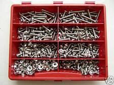 Sortiment Linsenflanschkopfschrauben ISO 7380-2, V2A rostfrei, M4, 390-teilig
