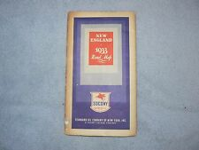 VINTAGE STANDARD OIL 1933 NEW ENGLAND ROAD INFO MAP GAS REFINING TRANSPORTATION