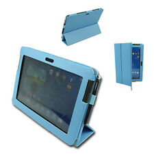 CASE COVER STAND PU LEATHER AQUA BLUE SAMSUNG GALAXY NOTE 10.1 N8000 N8010 N8020