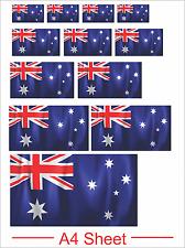 Sticker Custom Vinyl Bumper Australia Aussie Pride Waving Flag Australia Day