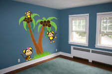 6 FT Palm Trees with Monkeys Wall Decal Sticker Mural