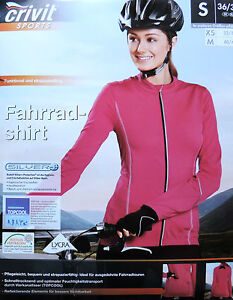 Damen Radshirt Fahrradshirt Langarm Bikeshirt Shirt XS S M 34 36 38 40 42 NEU