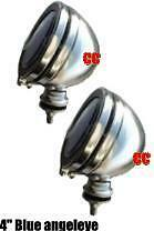 "Spotlights angeleye spot lamps angel eye scooter car 4"" small chrome scooter"