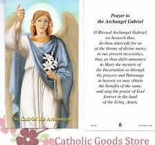 Prayer to the Archangel Gabriel -  Paperstock Holy Card