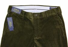 Men's POLO RALPH LAUREN Olive Green Corduroy Pants 30x30 30 NWT NEW