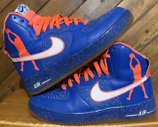 online store 906ff 7edf4 Nike Air Force 1 Hi Rasheed Wallace Blue Orange Knicks 624185-400 Size 9.5