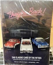 CLASSIC CARS OF THE '50 COMPLETE SET 12 BROCHURES (ONE OF EACH CARS) SHRINK WRAP