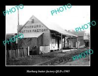 OLD LARGE HISTORIC PHOTO OF MARBURG QLD VIEW OF THE BUTTER FACTORY ca1905