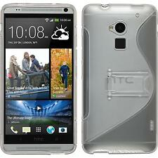 Coque en Silicone HTC One Max -  gris + films de protection