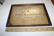 MOET & CHANDON, FONDO ESPEJO, ANTIGUO, 452mm x 331mm, MARCO DE MADERA  VER FOTO