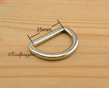d ring d-rings purse ring alloying nickel 25 mm 1 inch 10pcs U12