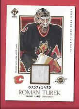 2002-03 Private Stock Reserve Hockey #107 Roman Turek Jersey /1475 Flames