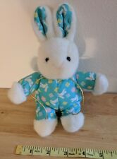 Oilvine Int Trading White & Aqua Bunny Rabbit Plush Toy