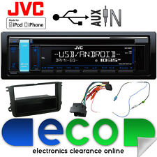 Skoda Fabia 07-15 JVC CD MP3 USB Aux Ipod Car Radio Stereo Kit Red Display