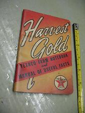TEXACO  FARM  NOTEBOOK HARVEST GOLD  1940  1941