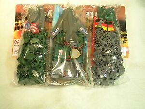 Plastik Soldaten 25 mm Fahne Militär versch. Länder   1 : 72  ca. 340 Teile OVP