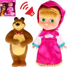 Talking in Russian Masha from Cartoon Masha and The Bear - Masha Doll with Bear