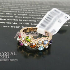 Anello Donna Cristallo Swarovski elements multicolore N78