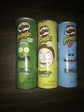 Special Edition Set of 3 Rick and Morty Pringles Brand New and Sealed 5.5oz cans