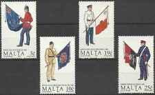 Timbres Armée Drapeaux Malte 838/41 ** lot 8245