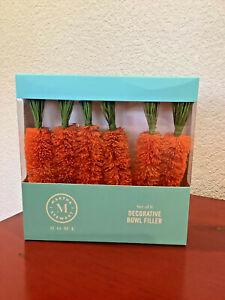 MARTHA STEWART HOME Easter Carrots Bottle Brush Bowl Fillers Set of 6 ~NEW~CUTE~
