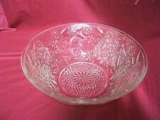 PINEAPPLE AND FLORAL INDIANA GLASS BOWL 7 1/4""