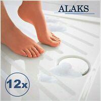 ALAKS Premium 12x Anti-Rutsch Aufkleber Streifen Dusche Badewanne Transparent