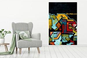 Beautiful & Colorful GRAFFITI/URBAN high quality Canvas painting  Home decor