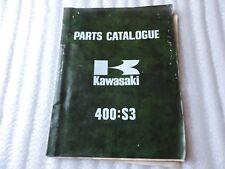 Kawasaki 400 S3 Parts Catalogue 99997-624 June 1973