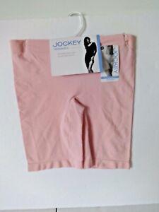 Jockey Women's skimmies slip shorts mid length size Small style 2109 pink