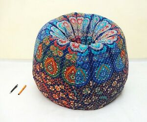 Handmade Quilted Embroidered Cotton Floral Bohemian Bean Bag Kids Furniture BB35