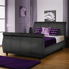Pocket Sprung Medium Sleigh Bed Beds with Mattresses