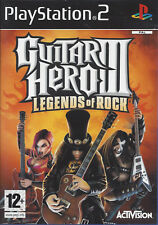 GUITAR HERO III (3) LEGENDS OF ROCK for Playstation 2 PS2 with box & manual PAL