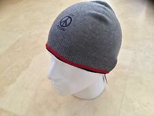 MENS LOVE MOSCHINO GREY BEANIE WITH PEACE SIGN LOGO SIZE MEDIUM BNWT