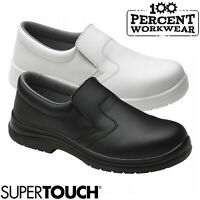 Nurses Medical Food Hygiene Catering Slip On Safety Shoes Steel Toe Cap S2 SRC