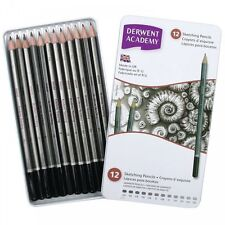 Derwent Academy TIN di 12 matite grafite Disegno 6B - 5 H artista COLLEGE ART
