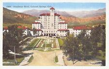 VTG POSTCARD BROADMOOR HOTEL PIKE'S PEAK COLORADO SPRINGS CO Unused / A42