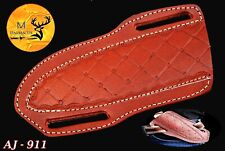 HAND MADE PURE COW LEATHER SHEATH FOR FIX BLADE KNFE & OTHER TOOLS - AJ 911
