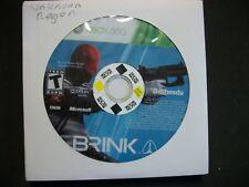 BRINK Xbox360m disc only FREE SHIPPING