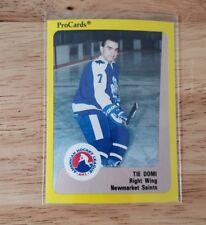 1989-90 ProCards AHL Newmarket Saints 25 Card Set Tie Domi XRC