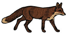 ac37 Fuchs Fox Rotfuchs Tier Aufnäher Bügelbild Patch Applikation 11,2 x 5,7 cm